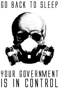 x2 / Two Government Anarchy Anonymous Anti New World Order Vinyl Decal Sticker