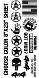 14 Jeep Off road Mega Sticker Pack American Flag Road Ends