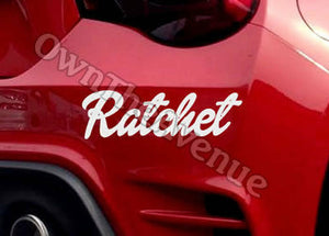 "x2 / Two Pack of Ratchet JDM Funny drift turbo Vinyl Decal Sticker 8"" (Ratchet)"