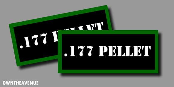 .177 Pellet Ammo Can Labels for Ammunition Case stickers decals (2PACK)