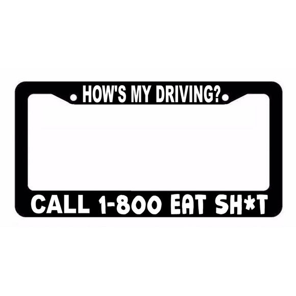 How's My Driving? Funny Racing JDM Drift License Plate Frame ID332