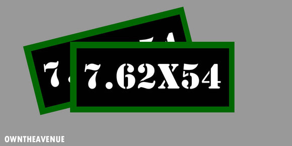 7.62x54 Ammo Can Labels for Ammunition Case 3.5