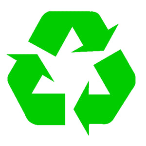 "Recycle Symbol Green 5"" Inches Vinyl Decal Window Sticker"