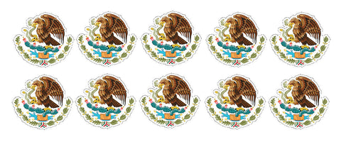 "Mexican Coat of Arms Sticker Decal Mexico Flag Pack Lot Bundle 2"" Each #MCOAPK"