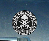 "2nd Amendment Steel Government Sticker Decal  3.75"" (2ndAmSteel)"