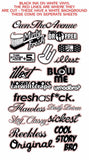 19 Individual Vinyl Decal Stickers Pack/Lot JDM Drift Low Drift WT (TYPR)