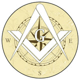 Masonic Free Mason Compass Vinyl Decal Sticker Car Truck Temple Freemason 4""