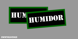 Humidor  Ammo Can Labels for Ammunition Case stickers decals (2PACK)