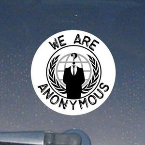 Anonymous Occupy The Planet Decal Sticker Government NWO Illuminati (AnonCircle)