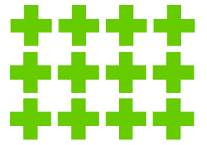 "Medical Cross EMT Sticker Decal Pack Lot Green 2"" First Aid Kit Plus Decals #3FB"