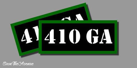 "410 GA Ammo Can Labels for Ammunition Case 3.5"" x1.50"" stickers decals(2PACK)"