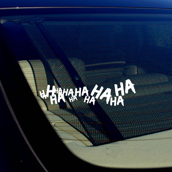 x2 / Two Joker Hahaha Serious Super Bad Evil Car Sticker Decal 7.5