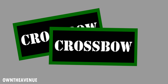 Crossbow Ammo Can Labels for Ammunition Case stickers decals (2PACK)