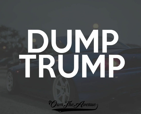 Dump Trump Decal Sticker - Anti Trump Fck Trump Presidential Election 8