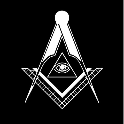 "Freemason Mason Masonic Illuminati Eye Vinyl Decal Sticker 5"" Choose Style"