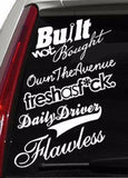 JDM Decal Sticker Pack of 5 White Stickers Race Drift (5PKDWHITE)