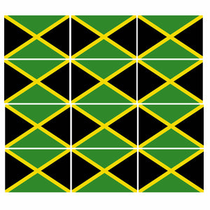 "12 Pack Jamaica Jamaican Flag Country Pride Patriotic Decal Sticker 2"" Inches"