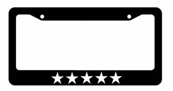 Five Star 5 Star Funny Drifting Racing JDM Black License Plate Frame