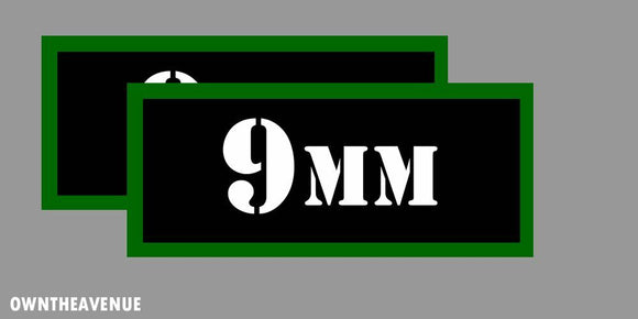 9MM Ammo Can Labels for Ammunition Case 3.5