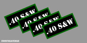".40 S&W Ammo Can Labels for Ammunition Case 3.5"" x 1.50"" stickers decals(4PACK)"