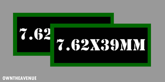 7.62x39MM Ammo Can Labels for Ammunition Case 3.5