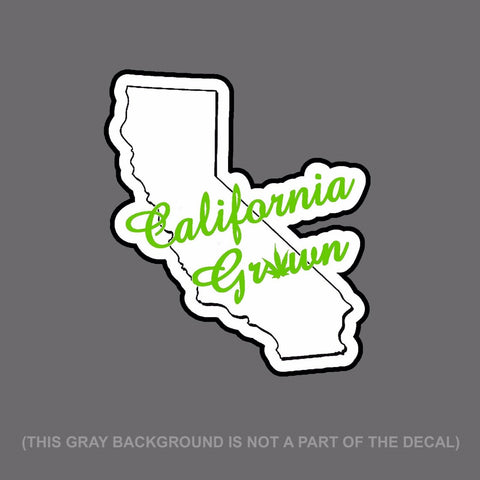 "California Grown 420 Dope Cali Decal Sticker 6"" #Digiprint LcCursiveStyle"