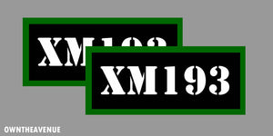 "XM193 Ammo Can Labels for Ammunition Case 3.5"" x 1.50"" stickers decals 2PACK"