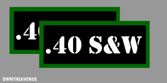 .40 S&W Ammo Can Labels for Ammunition Case 3.5