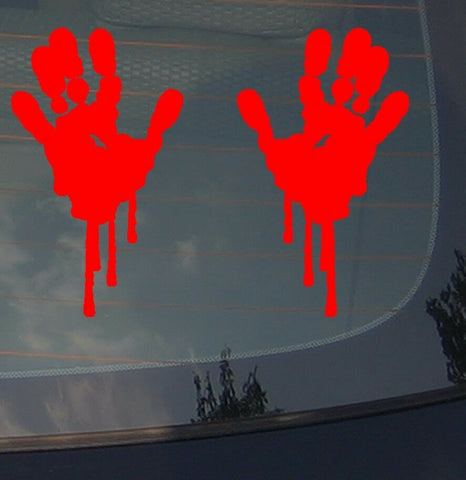 Bloody Zombie Hand Print Sticker Funny Car Decal JDM Decorative 8""