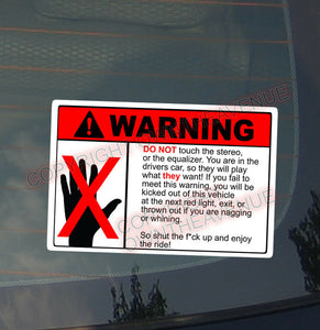 x2 / Two Pack of WARNING DON'T TOUCH JDM Vinyl Sticker Decal Drift Euro Race