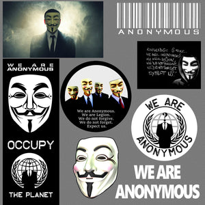 Anonymous Anti NWO Illuminati Government Anarchy Pack Lot of 8 Decal Stickers #8