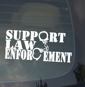Support Law Enforcement Police Pro Patriotic U.S.A. Vinyl Decal Sticker 7.5""