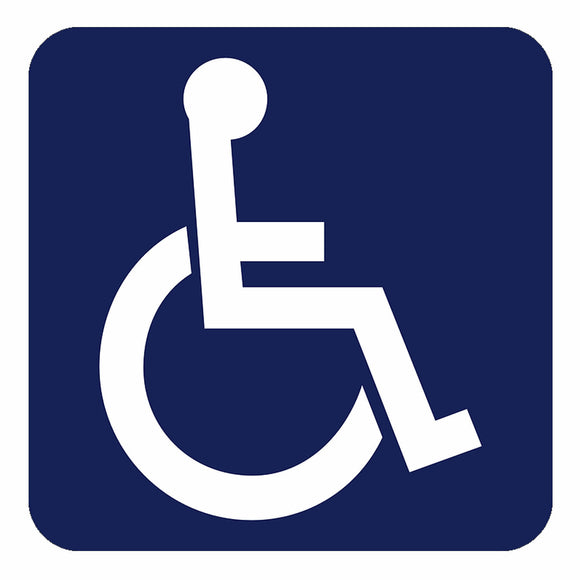 Handicap Logo Parking Signs Table Sticker Decal Symbol Buy 2 Get 1 Free