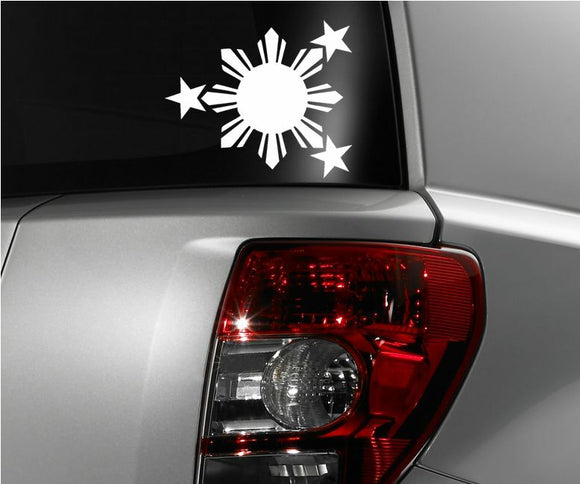 Philippines Flag Sun and Stars JDM Vinyl Decal Sticker 6