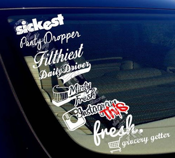 JDM Lot Pack of 8 Stickers Decals (8PKA) Instagram This