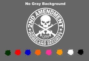 "2nd Amendment Vinyl Decal Sticker Molon Labe 3% Government 5.5"" CHOOSE COLOR"