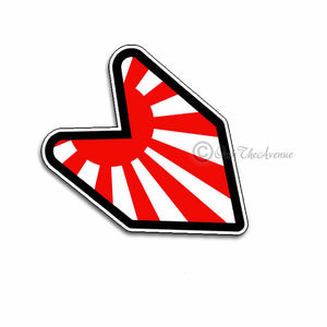 "x2 / Two Pack Japan Japanese Flag Wakaba JDM Sticker Decal 4"" Drifting Race"