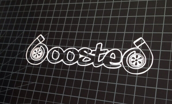 x2 / Two BOOSTED JDM Sticker Decal Turbo Vinyl 8