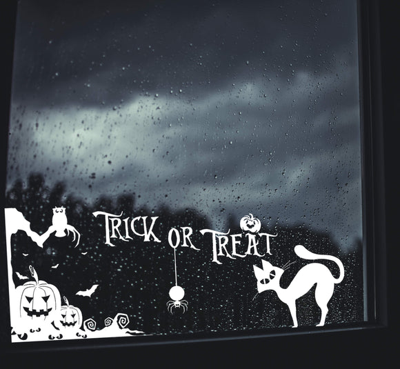 Halloween Decal Sticker Trick or Treat Wicca Witchcraft Scary Big Size 19
