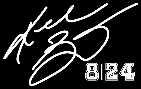 KOBE BRYANT #8 #24 Basketball Vinyl Decal Sticker Car White 6