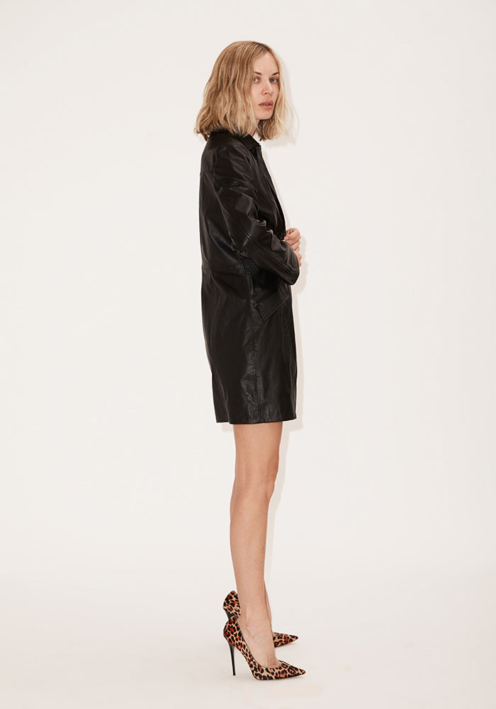 Slim Fit Lambskin Trench Coat