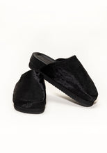 Load image into Gallery viewer, Black Cowhide Clog