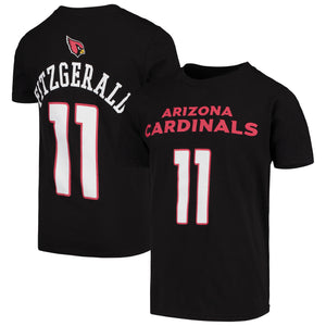 ARIZONA CARDINALS YOUTH 8-20 Name & Number TEE LARRY FITZGERALD BLACK