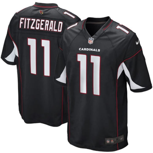 ARIZONA CARDINALS YOUTH 8-20 FINISHED GAME JERSEY LARRY FITZGERALD BLACK