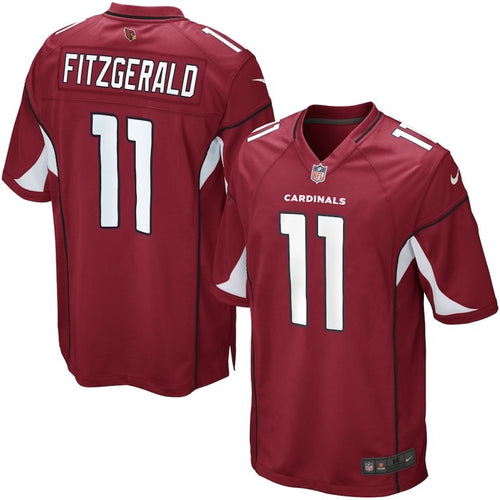 ARIZONA CARDINALS YOUTH 8-20 FINISHED GAME JERSEY LARRY FITZGERALD RED
