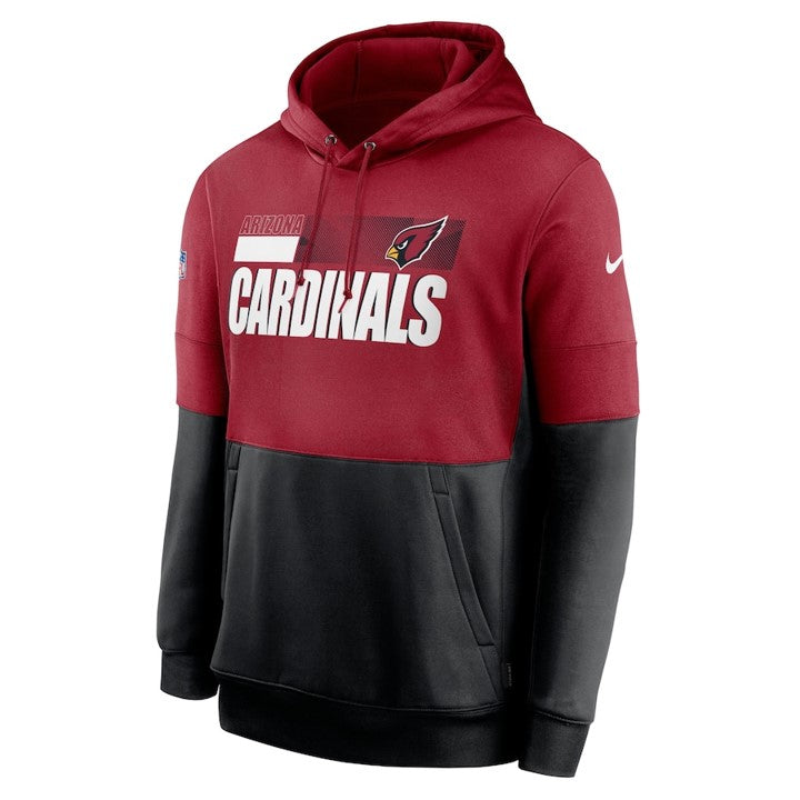ARIZONA CARDINALS MEN'S NIKE LOCKUP THERMA PULLOVER 2020 RED