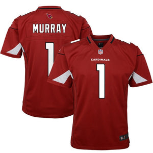 ARIZONA CARDINALS YOUTH 8-20 FINISHED GAME JERSEY KYLER MURRAY RED