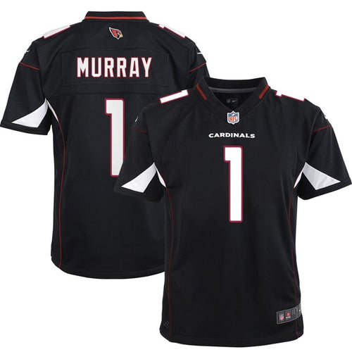 ARIZONA CARDINALS YOUTH 8-20 FINISHED GAME JERSEY KYLER MURRAY BLACK