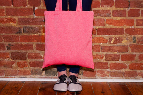 kigo eco tote: ketchup bottle red