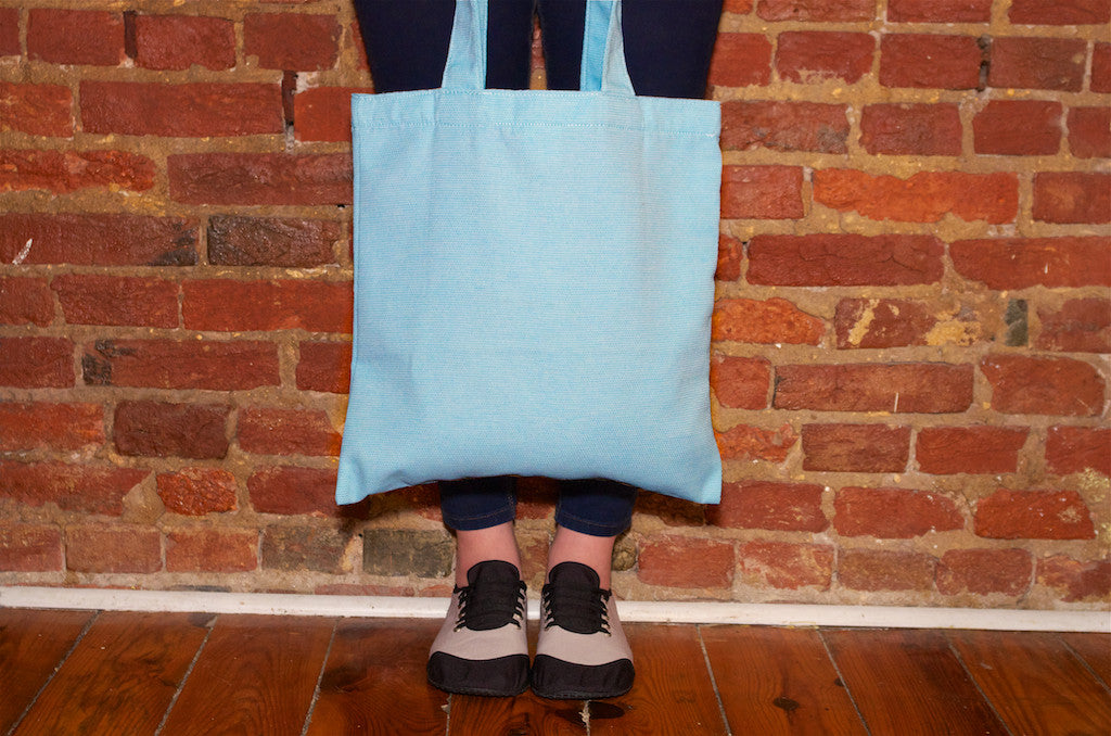 kigo eco tote: water bottle blue